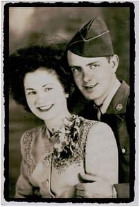 Mr. & Mrs. Robert Burns - Original Owners Of AR-BE Garage Doors